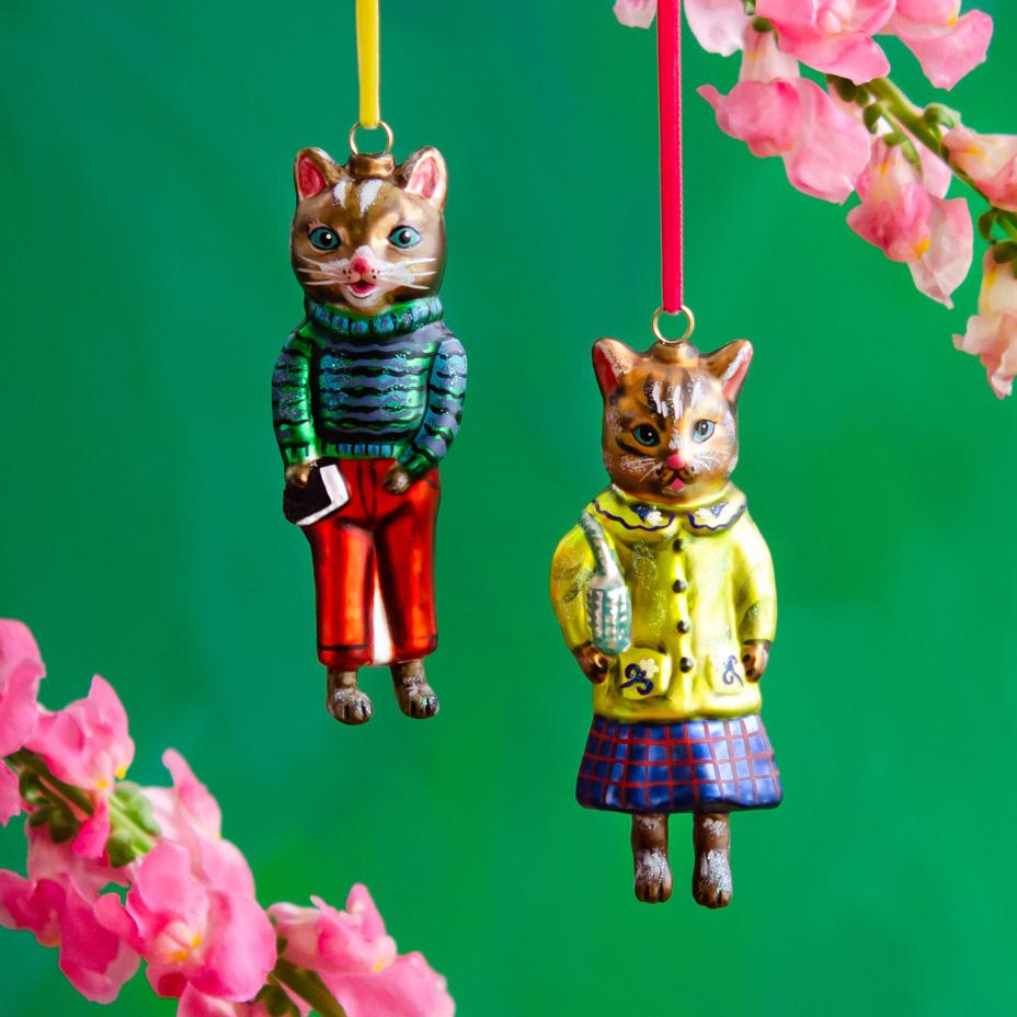 Nathalie Lete Kitty Cat Ornaments