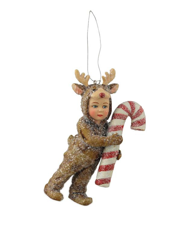 Nathan In Reindeer Costume Ornament by Bethany Lowe