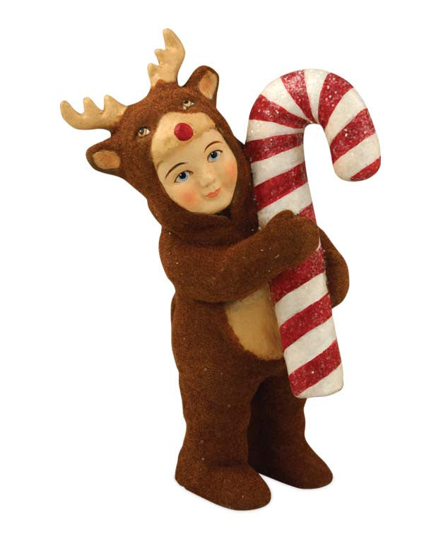 Nathan In Reindeer Costume Tablepiece