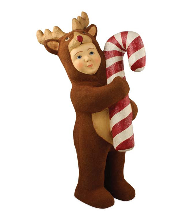 Nathan In Reindeer Costume - Large Paper Mache Figure