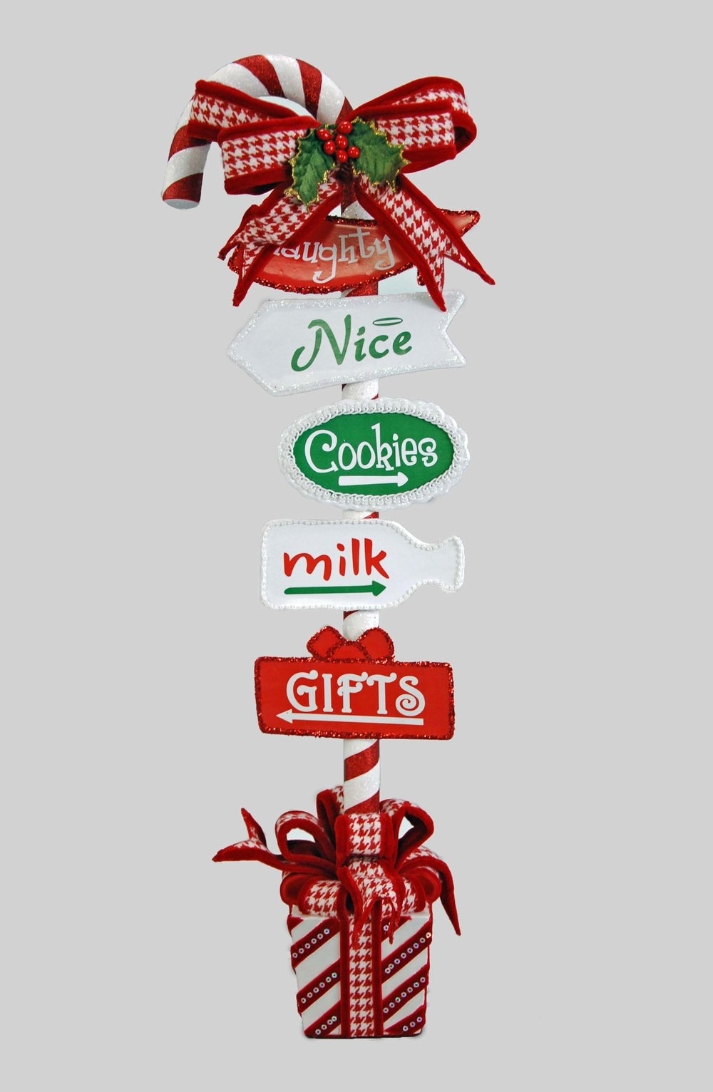 Katherine's Collection Naughty or Nice Candy Cane Sign