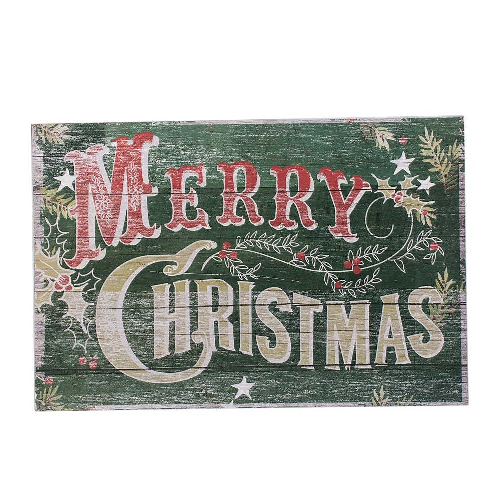 Old Fashioned Merry Christmas Sign | Vintage Style Holiday ...