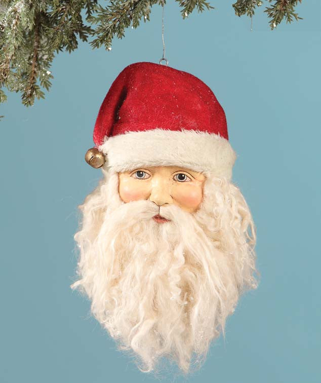 Old Fashioned Santa Head Ornament
