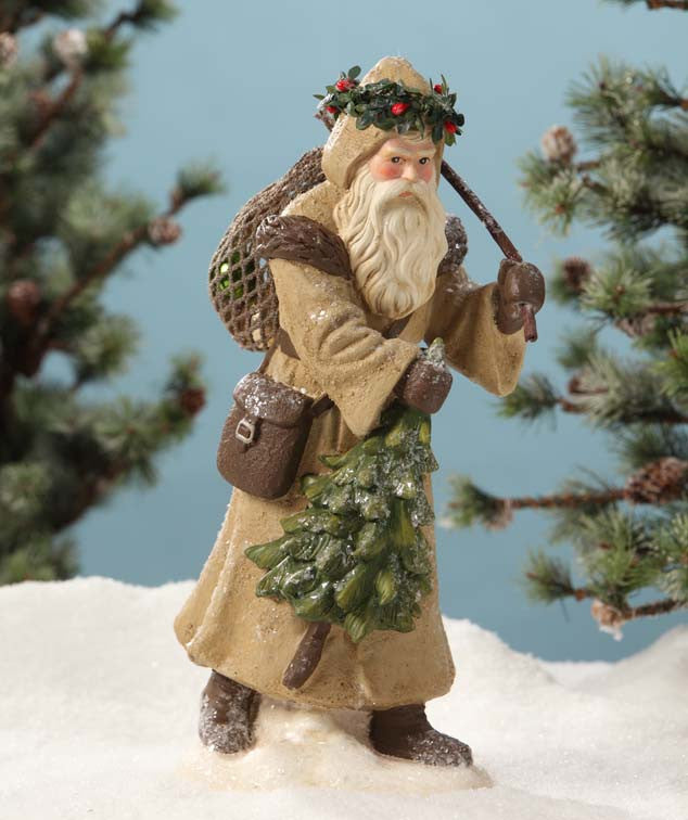 Old Fashioned Woodland Santa by Bethany Lowe
