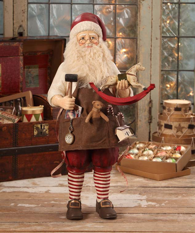 Old Fashioned Workshop Santa Figurine