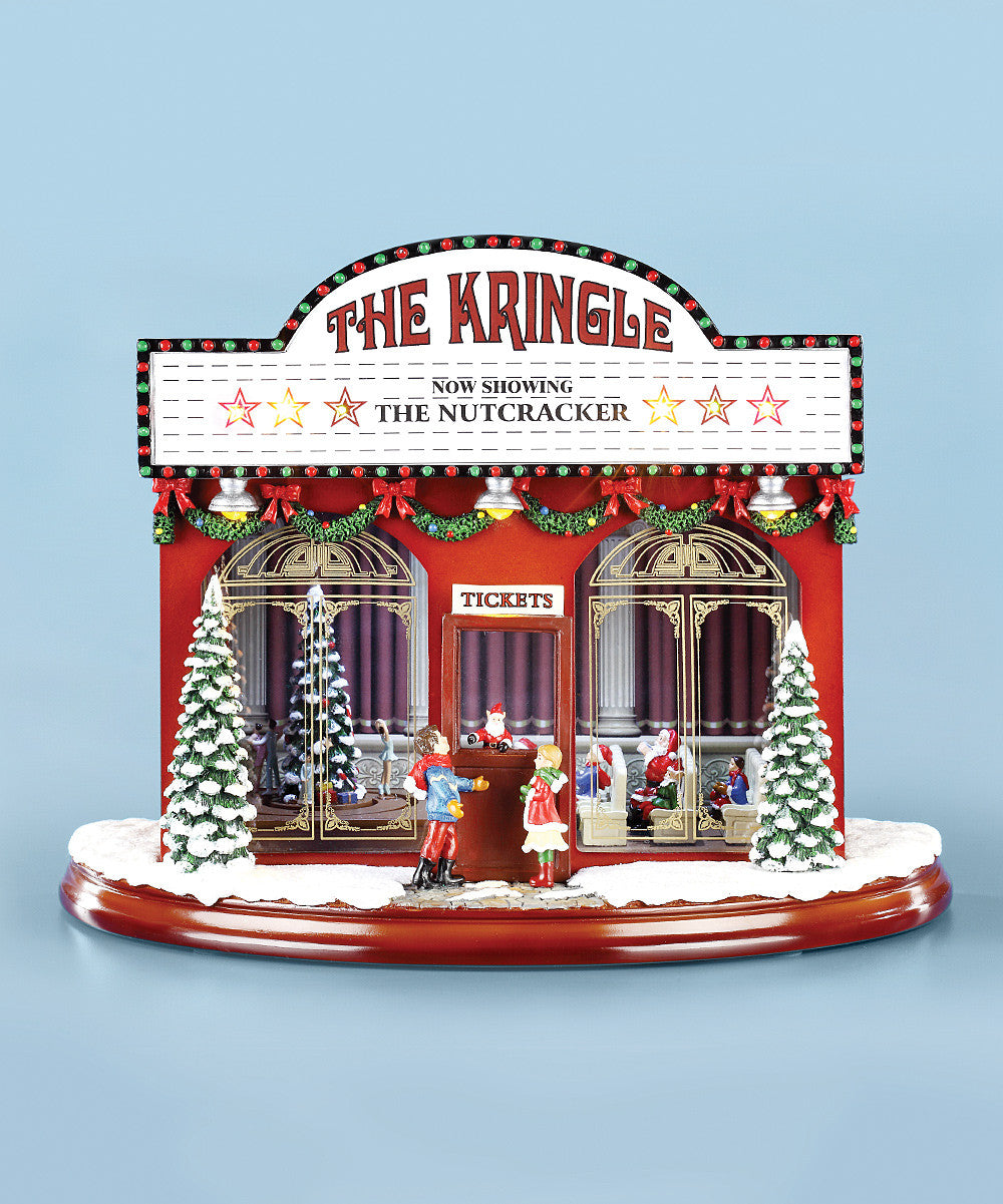Old Time Theater Christmas Music Box - TheHolidayBarn.com