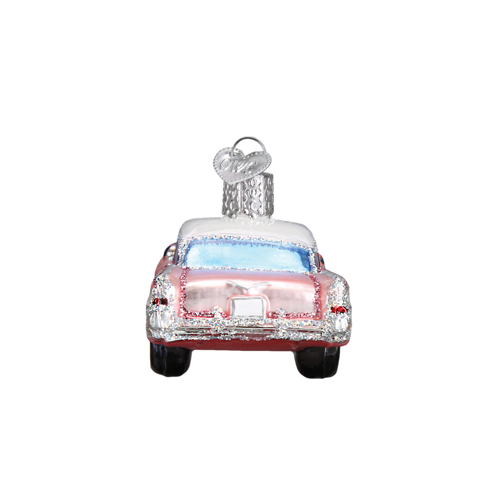 Pink Cadillac Christmas Ornaments