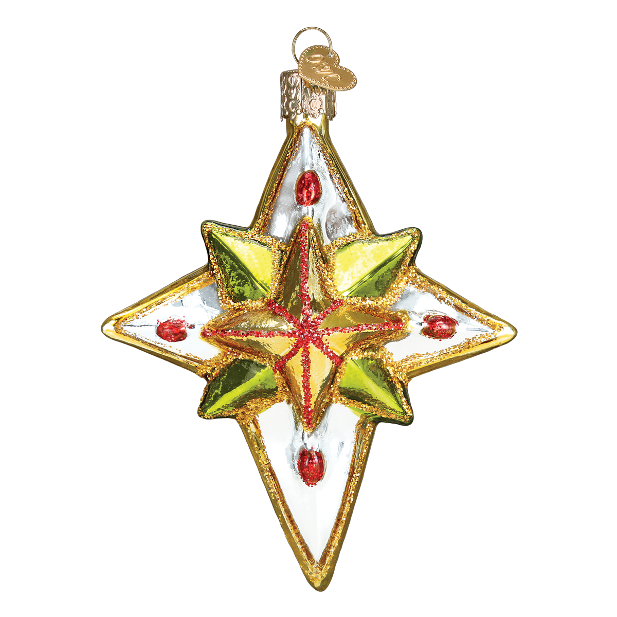 Old World Christmas Glass Luminous Star Ornament