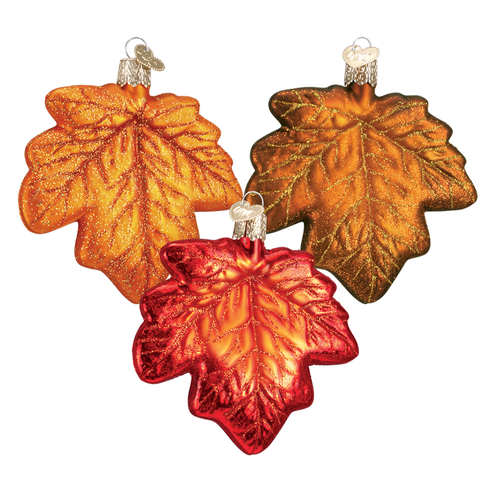 Old World Christmas Maple Leaf Ornaments