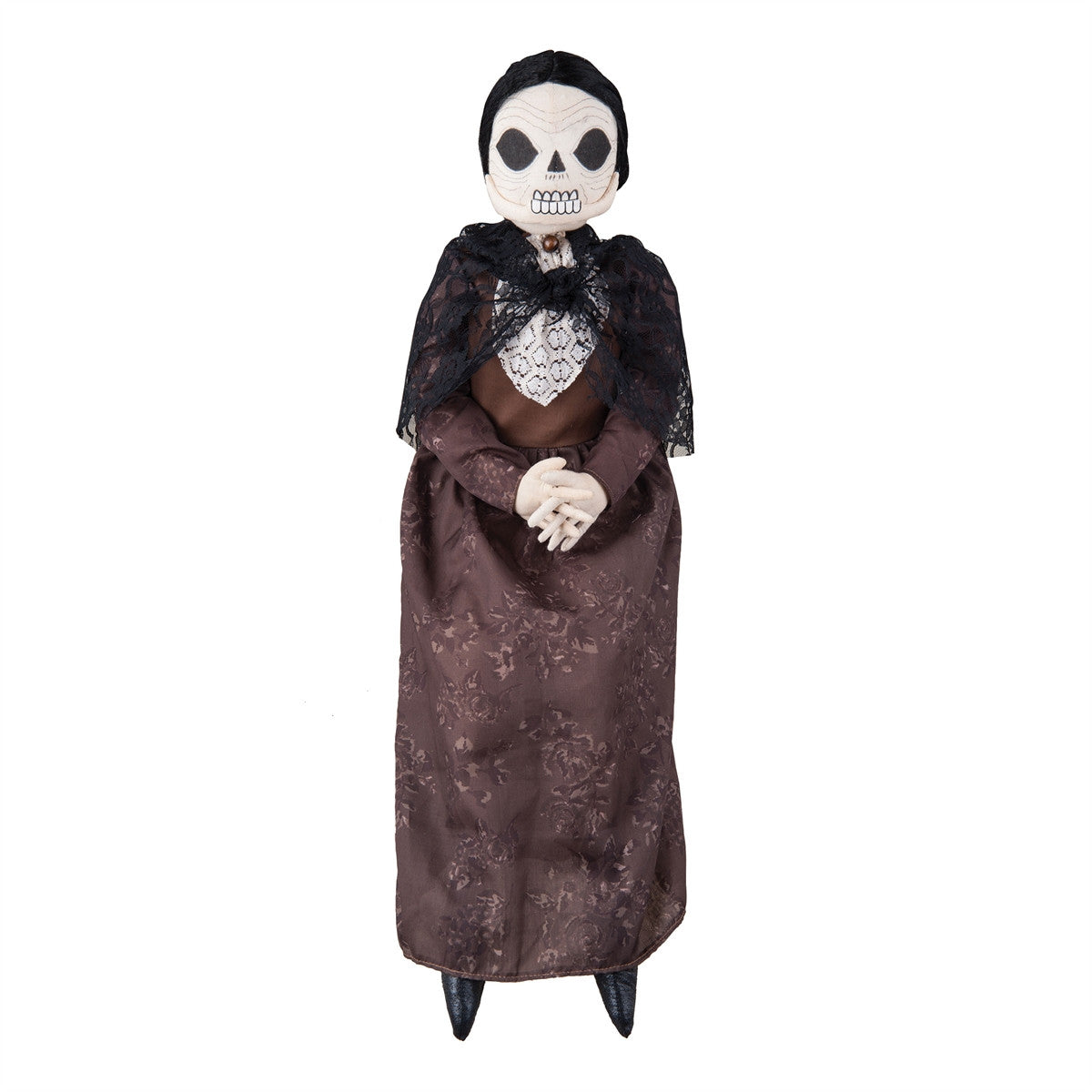 Olga Old Woman Skeleton Fabric Halloween Doll by Joe Spencer