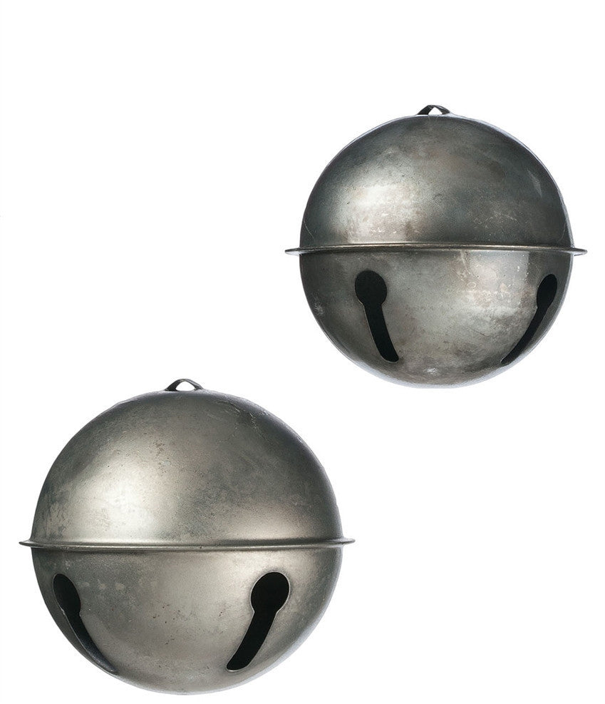 Vintage Pewter Sleigh Bell Ornaments