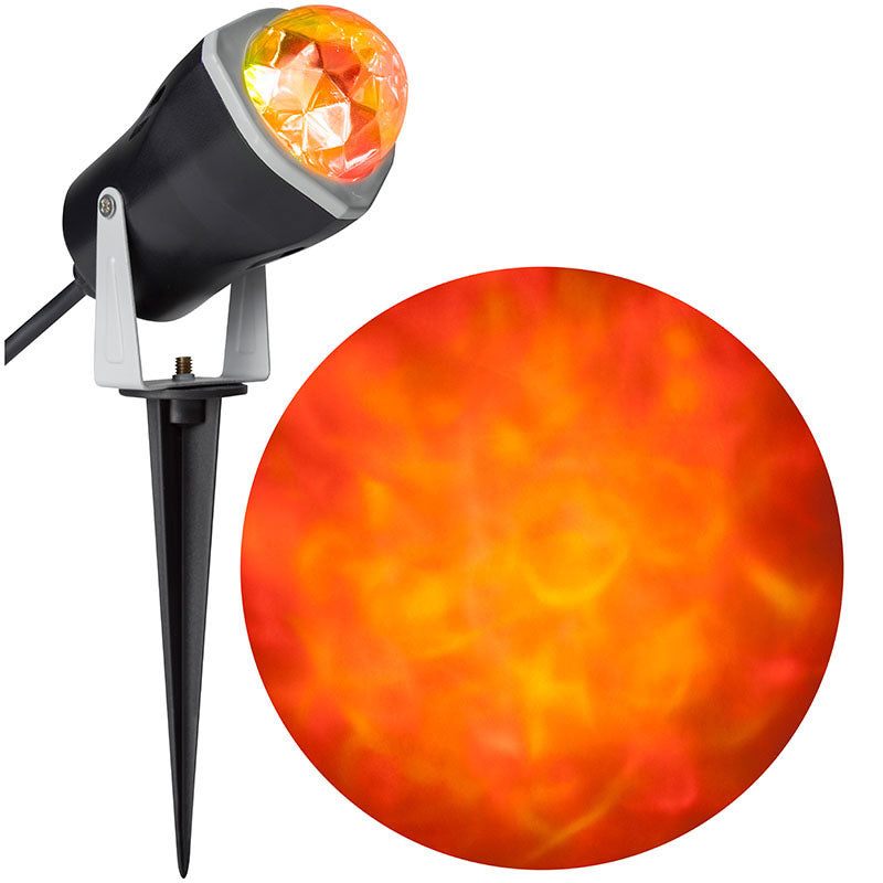 Orange Fire & Ice Spotlight with LED Light