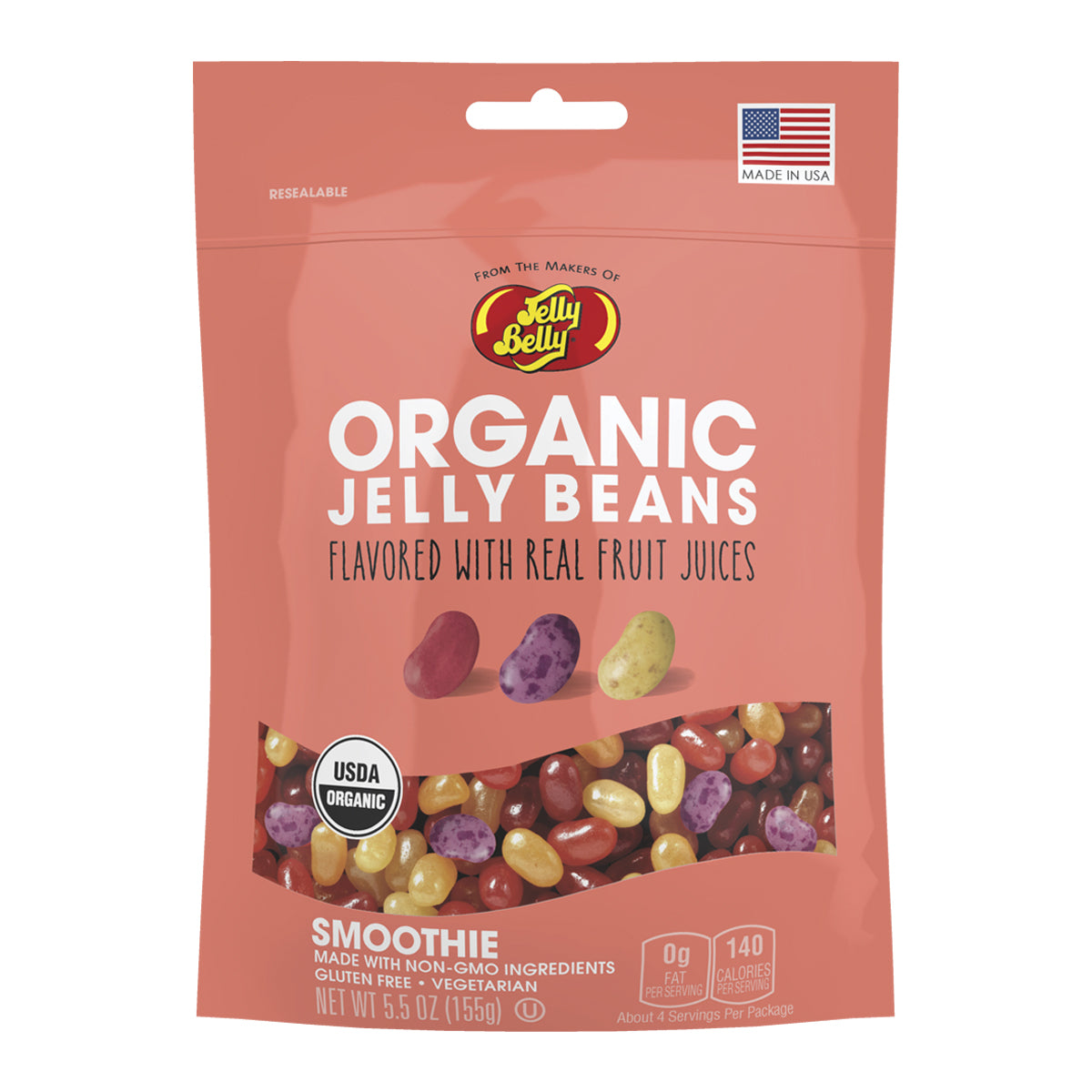 Organic Jelly Beans - Fruit Smoothie Flavor by Jelly Belly