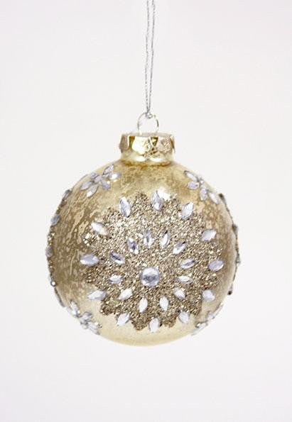 Rhinestone Bauble Ornament