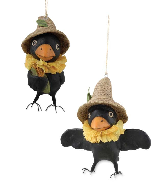 Otis & Freckle Crow Ornaments