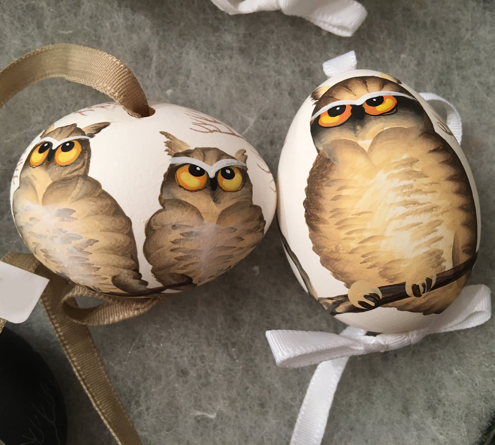 Hoot 'N Harriet Egg Ornaments