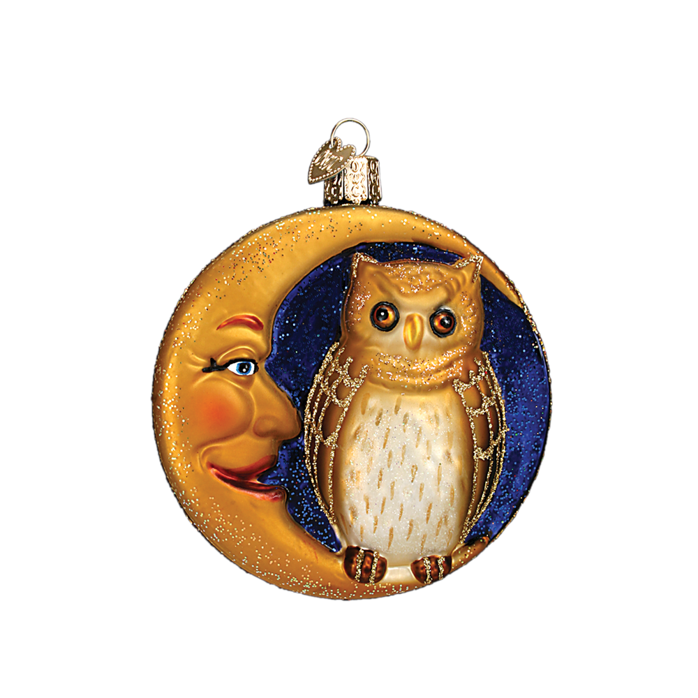 Owl in the Moon Ornament