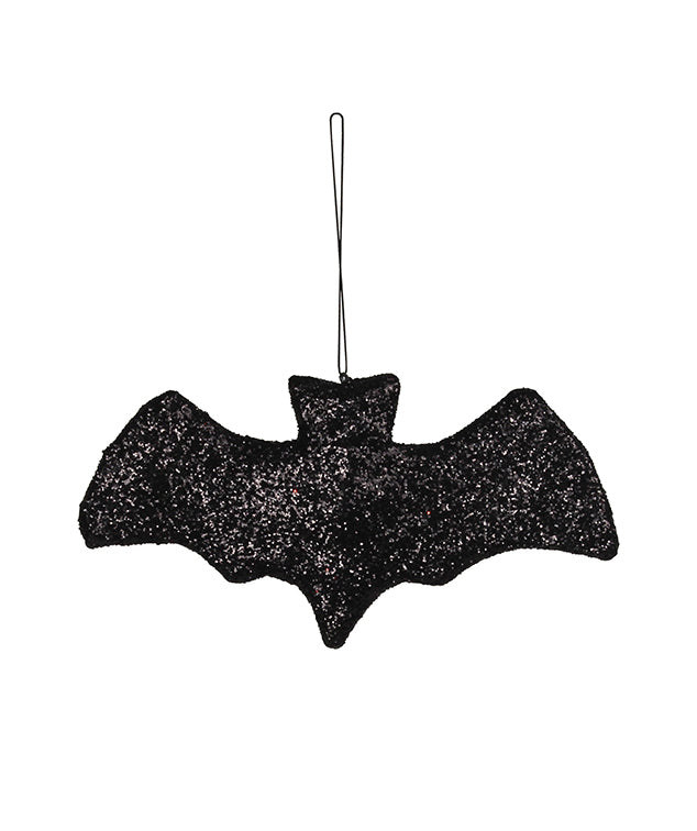 Paper Mache Bat Ornament with Glitter
