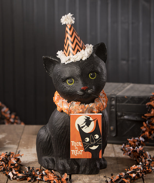 Black Cat Soiree, Paper Mache by Bethany Lowe