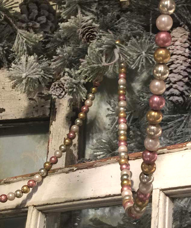 Pastel and Pearl Bead Garland Plastic