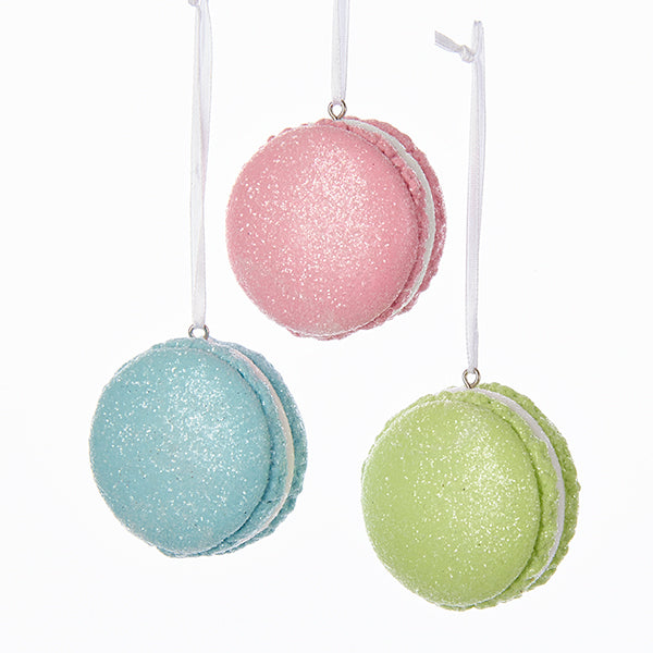 Pastel French Macaron Ornaments - Pink, Blue & Green