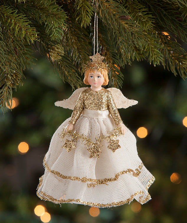 Peaceful Storybook Angel Ornament Paper Cone Doll - Bethany Lowe 2018