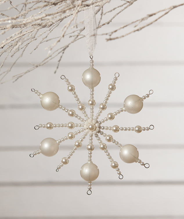 Pearl Starburst Ornament by Bethany Lowe