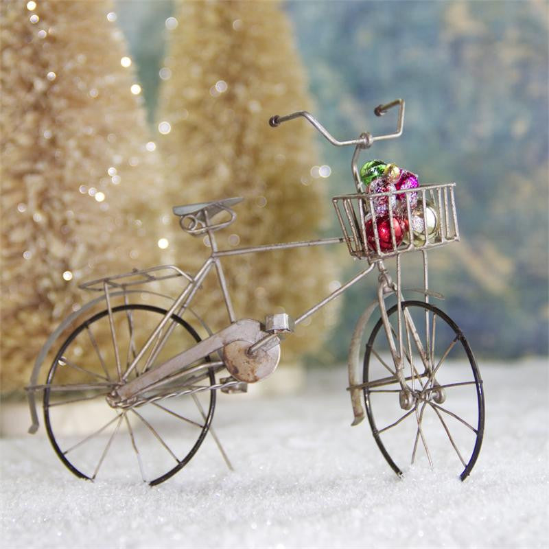 Bicycle with Basket of Ornaments