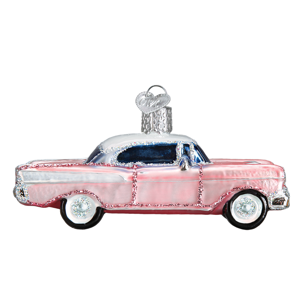 Pink Cadillac Christmas Tree Ornament