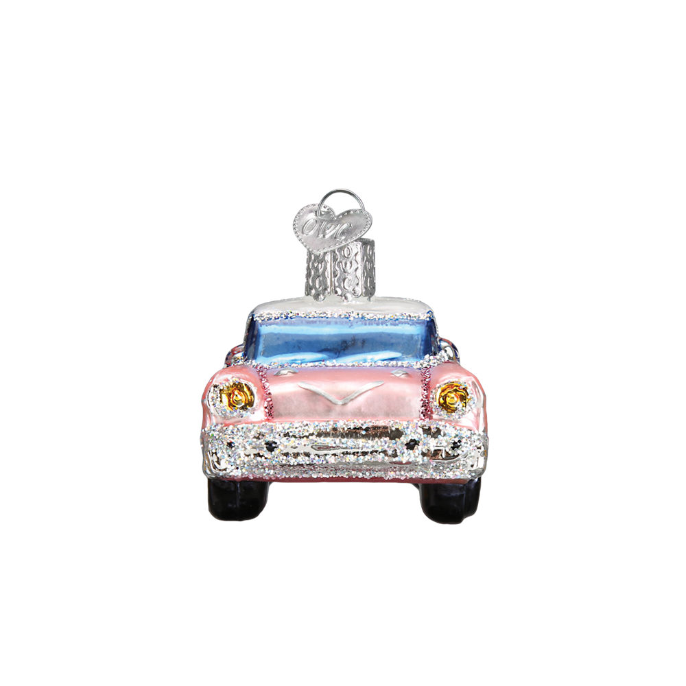 Pink Cadillac Ornaments - Glass Christmas Tree