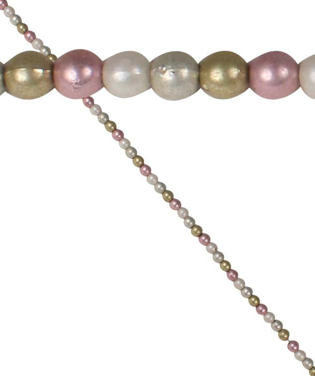 Pink, Gold, Silver & Pearl Bead Garland