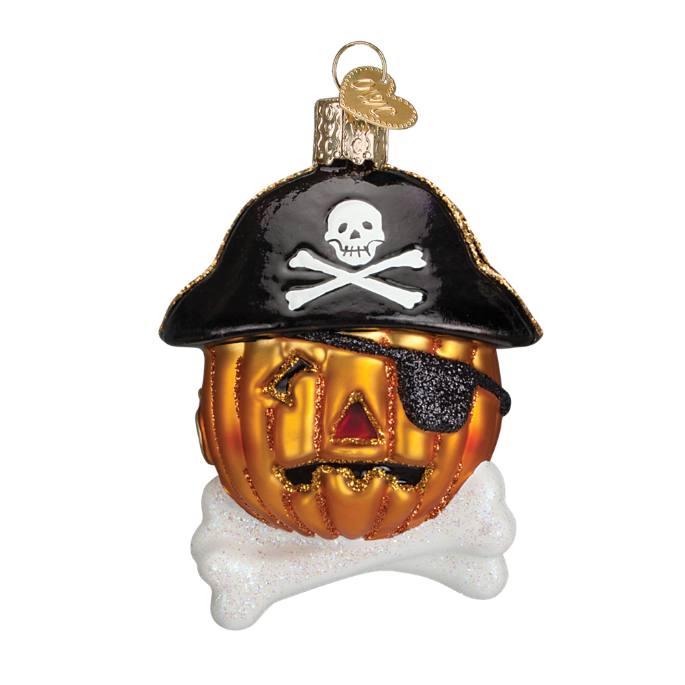 Pirate Pumpkin Ornament