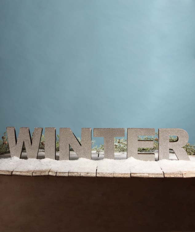 Platinum Winter Standing Word Sign