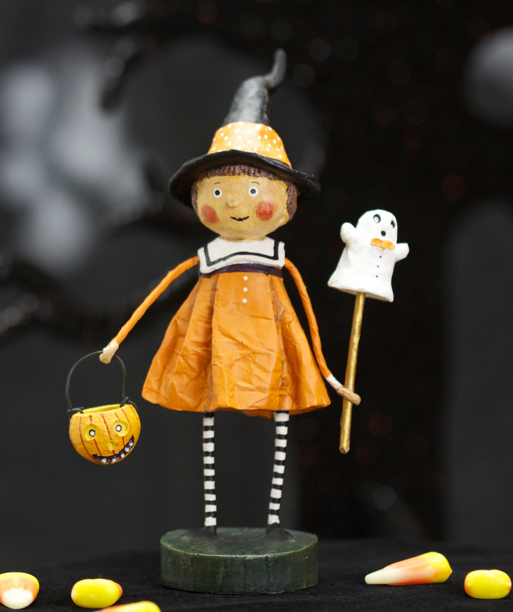 Precious Pumpkin Lori Mitchell Halloween Witch Figurine