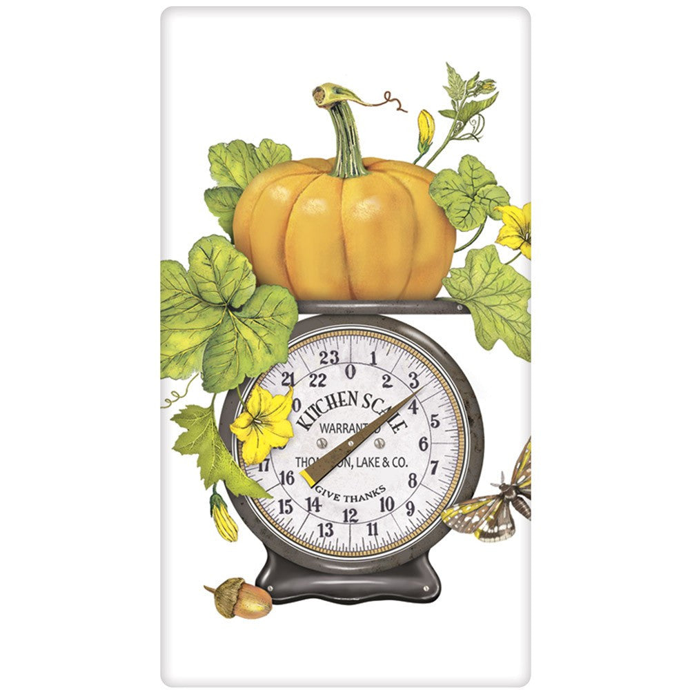 Pumpkin on Scale Flour Sack Kitchen Towel