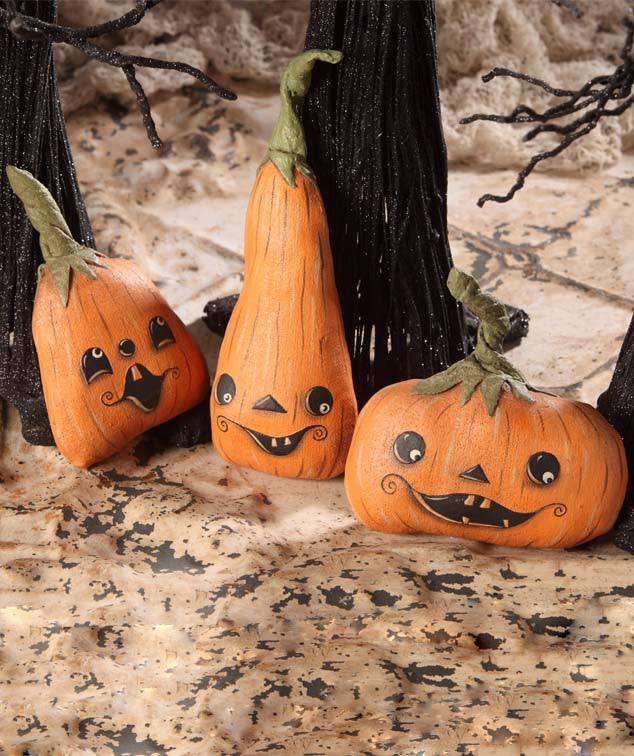 Pumpkin Patch Characters | Cute Halloween Decorations by Robin Seeber -  TheHolidayBarn.com