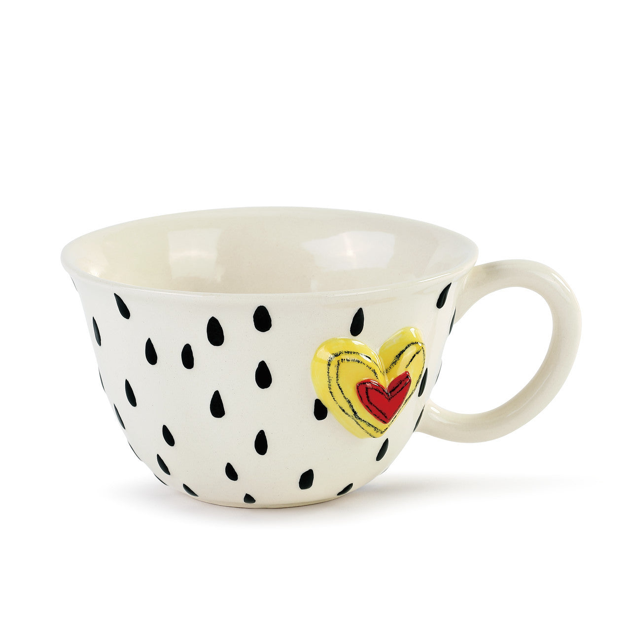 Raindrops and Hearts Tea Cup