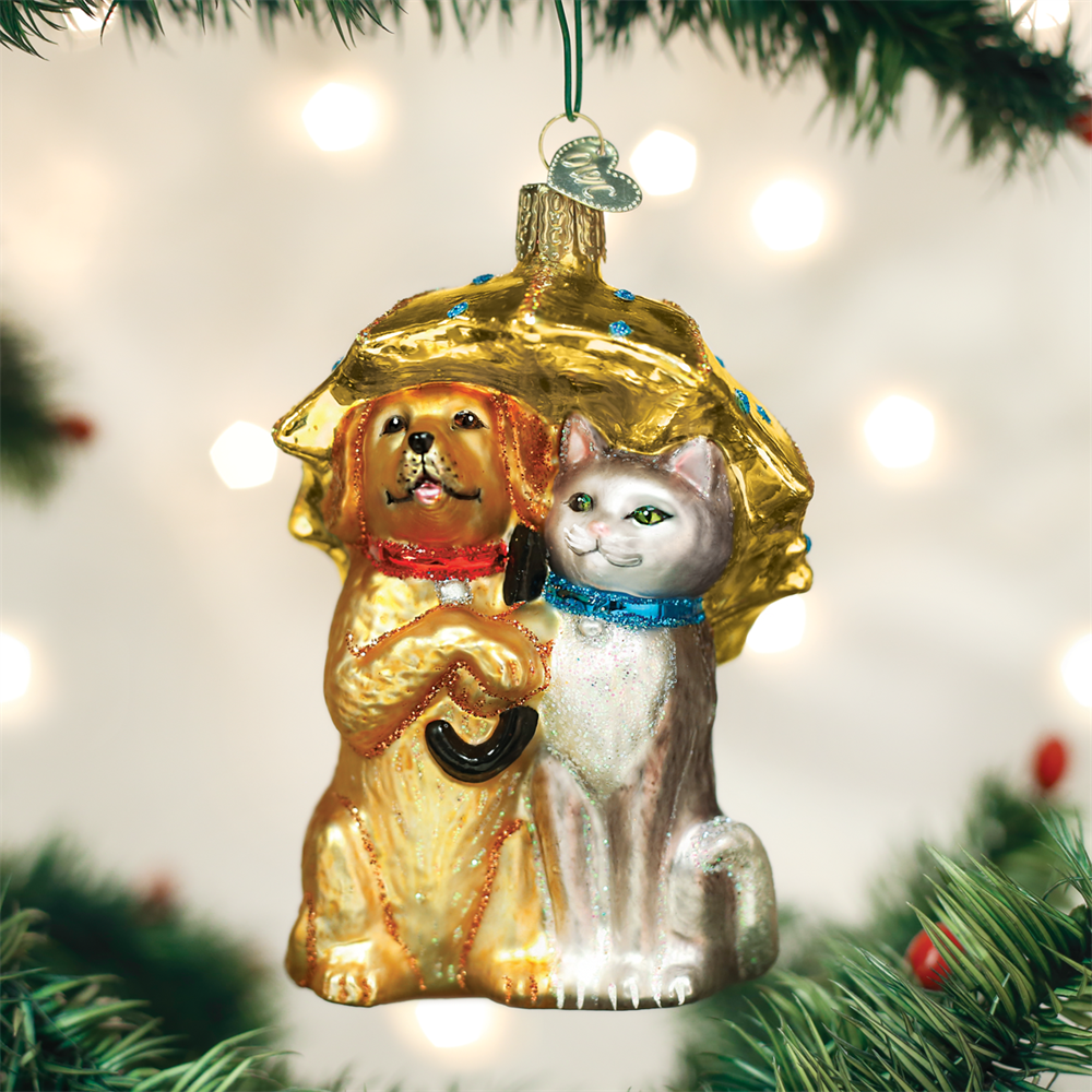 Raining Cats And Dogs Ornaments