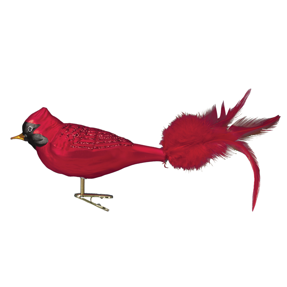Large Red Cardinal Ornament Clip | Old World Christmas ...