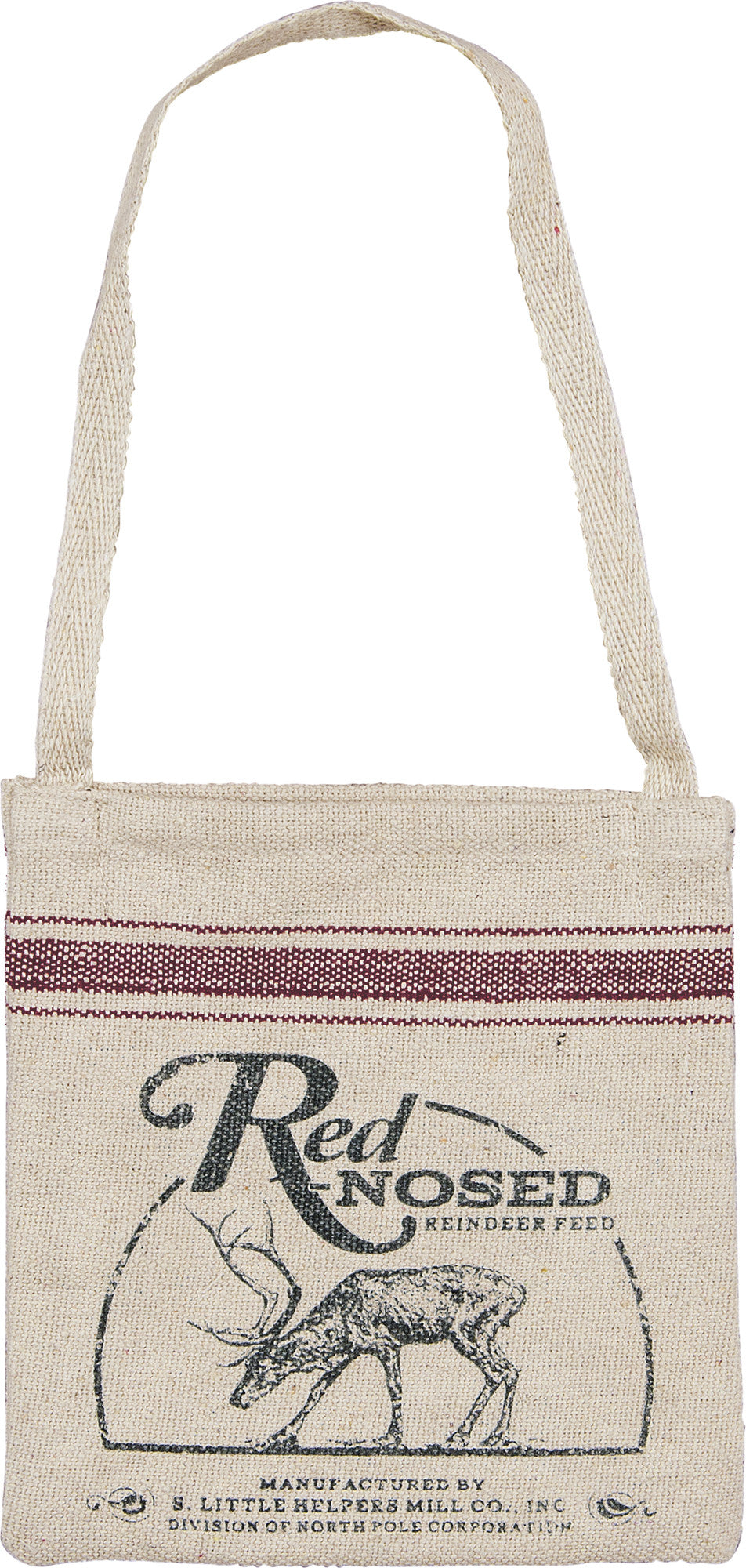 Red Nosed Reindeer Feed Bag