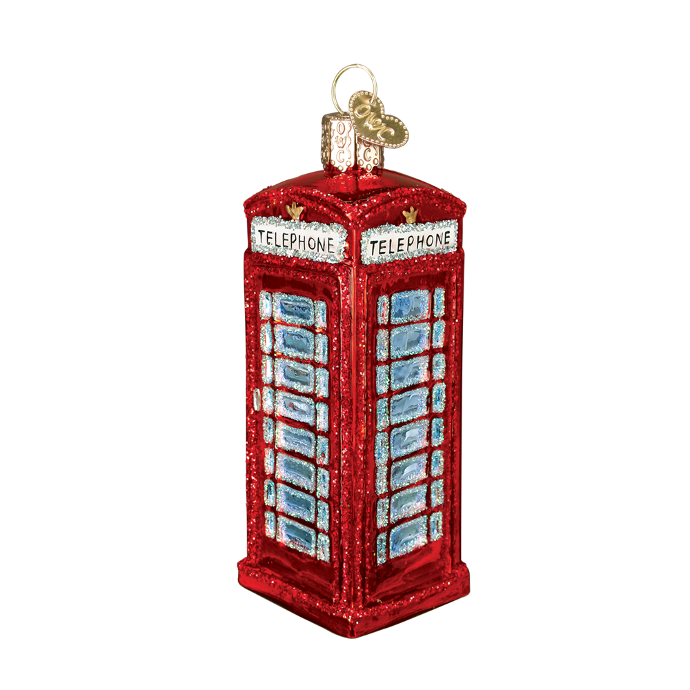 Red Telephone Booth Ornament