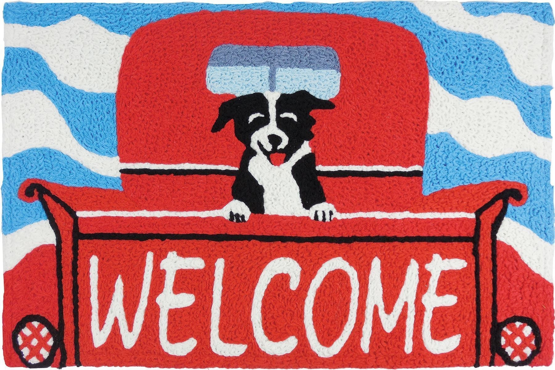 Red Truck Welcome Pup Rug Theholidaybarn Com