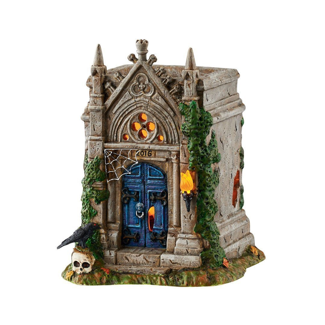 Rest in Peace Mausoleum - Tabletop Halloween Cemetery Accessory