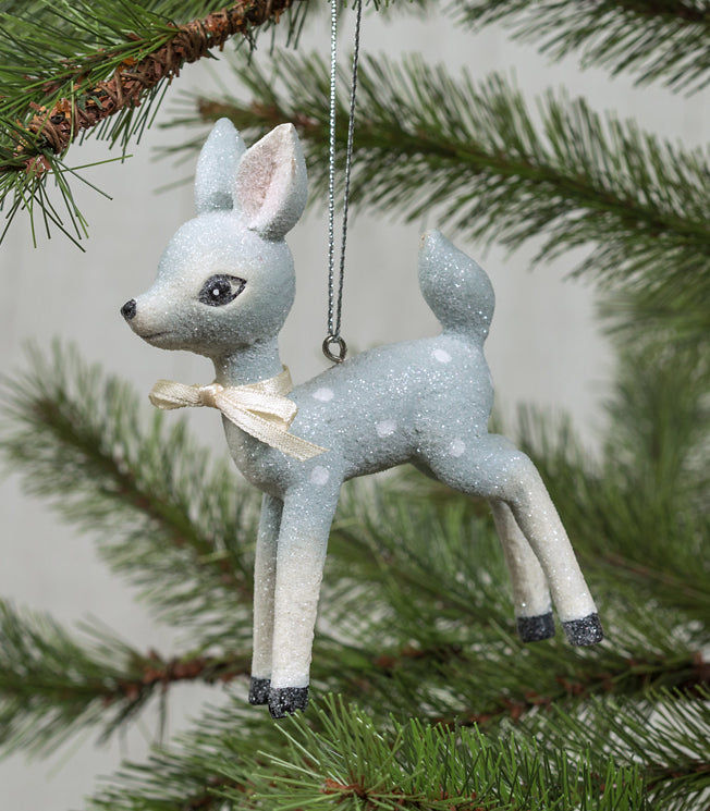 Retro Blue Deer Ornament