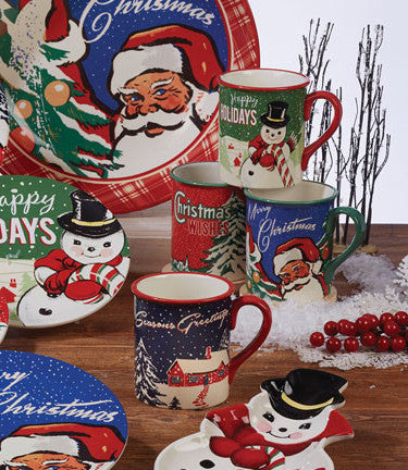 Retro Christmas Mugs