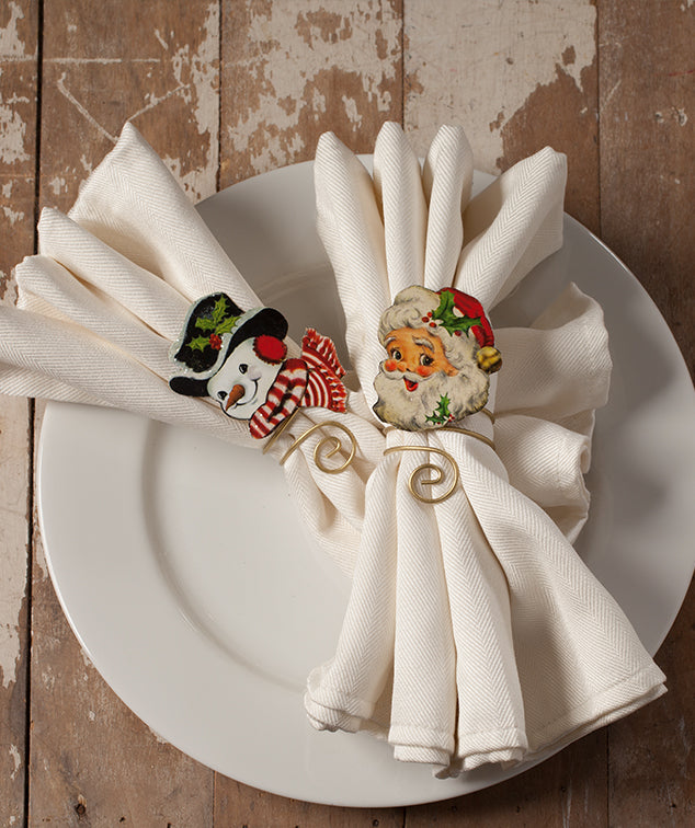 Retro Christmas Napkin Rings