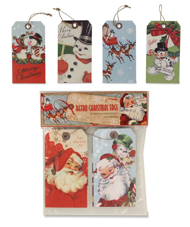 Retro Christmas Tags - Bethany Lowe