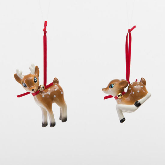 Retro Deer Ornaments, Ceramic