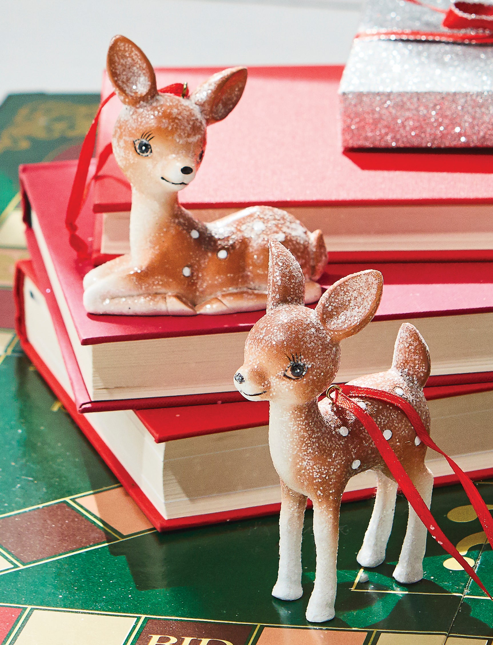 Retro Deer Ornaments