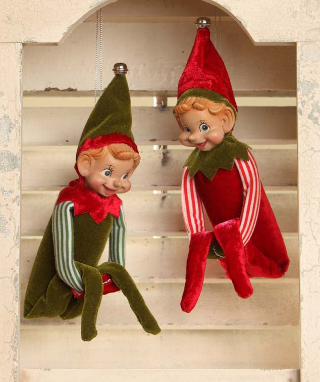 Retro Elf Ornaments | Bethany Lowe Retro Christmas